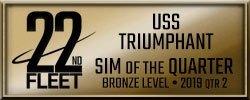 22nd Fleet Sim of the Quarter, Quarter Two Bronze